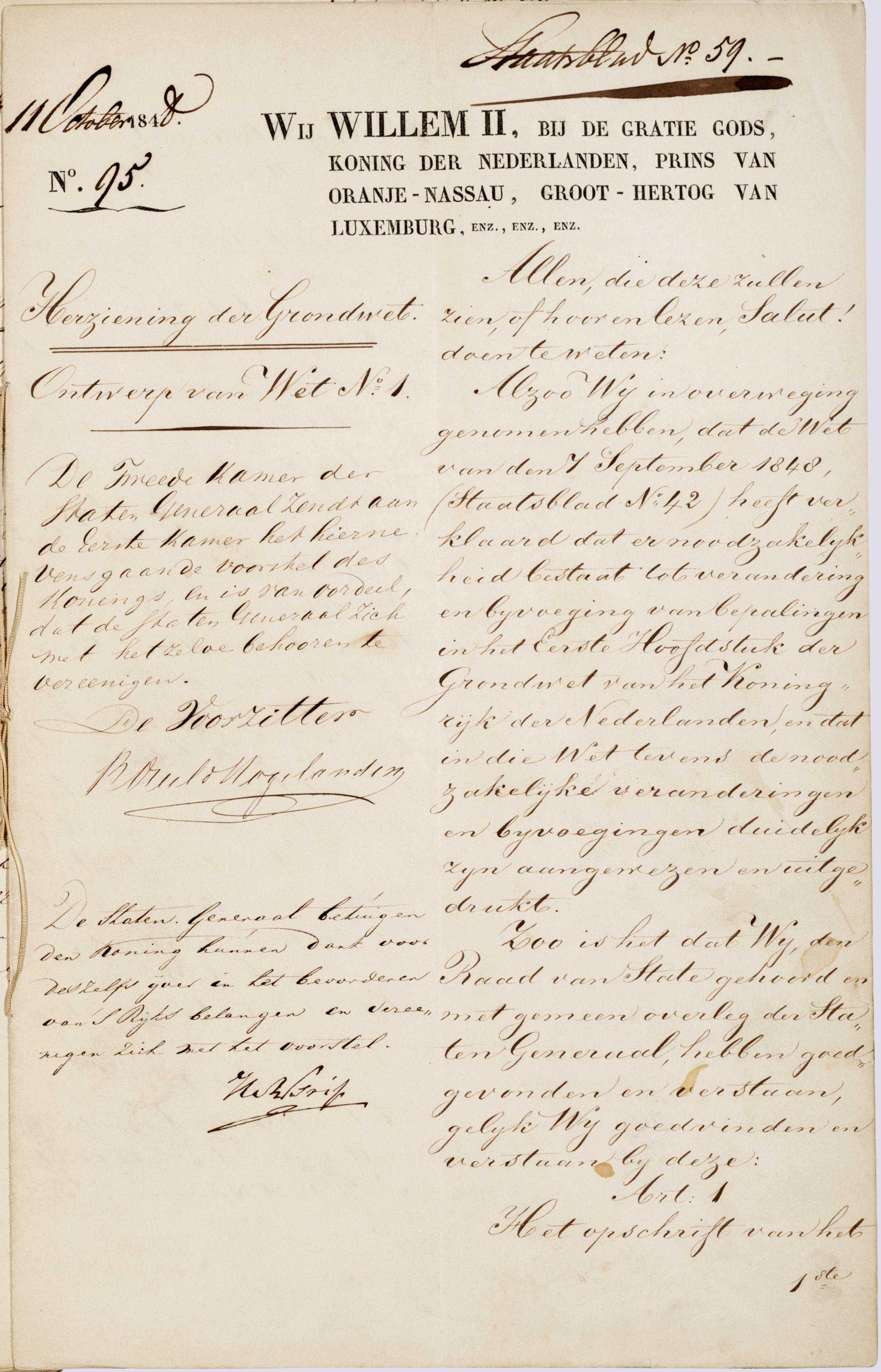 De Grondwet 1848 - Maand van de Geschiedenis